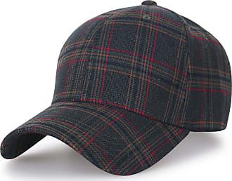 Ililily District Pattern Baseball Cap Big Size Adjustable Trucker Hat, Olive Plaid