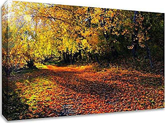 Tangletown Fine Art Auburn Trail Gallery Wrap Canvas Yellow/Orange/Brown