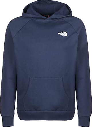 The North Face Men Hoodie Raglan Red Box, Size:2XL, Color:blue wing teal