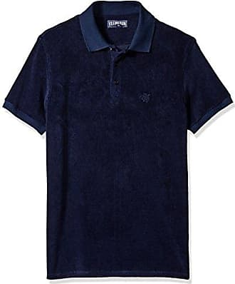 Vilebrequin Mens Pacific COLID Terry Polo, bleu Marine, XL