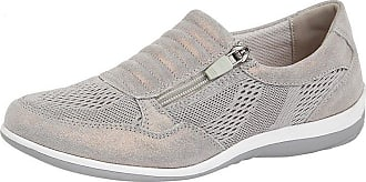 Boulevard Ladies Comfy Side Zip Leisure Casual Shoes (7, Grey Shimmer)
