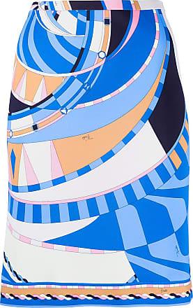 Emilio Pucci Minissaia com estampa Wally - Azul
