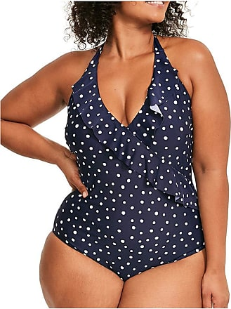 Figleaves Womens Sorrento Spot Curve Swimsuit Size 18 in Ink