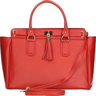 Chicca Borse 80048, Womens Cross-Body Bag, Rosso, 40x18x27 cm (W x H L)