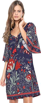 Dress To Vestido Dress to Curto Estampado Azul-marinho