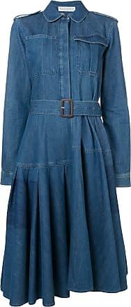 J.W.Anderson Chemise jeans com cinto - Azul