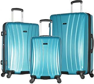 Olympia USA Olympia Bristol Expandable Hard Sided Spinner Luggage Set 3 Piece - Teal Olympia Usa