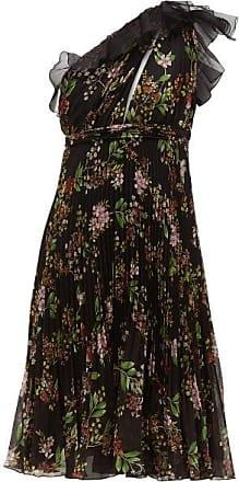 Giambattista Valli One-shoulder Floral-print Silk-georgette Dress - Womens - Black Multi