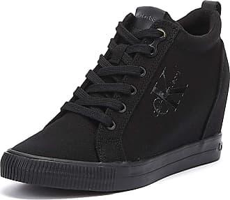 ea581be98568 Calvin Klein Jeans Ritzy Womens Wedge Black Trainers-UK 3   EU 36