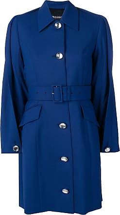 Y / Project Trench coat com detalhe rasgado - Azul