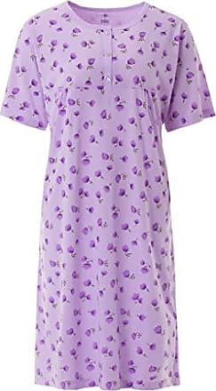 Nachthemd Damen Langarm Ginko Knopfleiste Schlafhemd Zeitlos