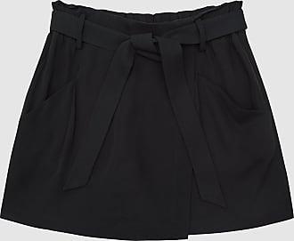 Reiss Julie - Wrap-effect Twill Skort in Navy, Womens, Size 10