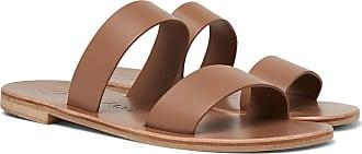 ÁLVARO GONZÁLEZ Alex Leather Sandals - Light brown