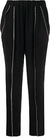 Iro eyelet-detail high-waist trousers - Black