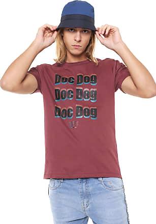 Doc Dog Camiseta Doc Dog Manga Curta Lettering Vinho