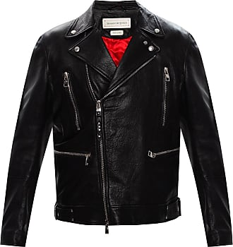 Alexander McQueen Leather Biker Jacket Mens Black
