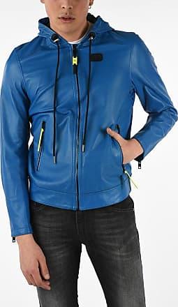 Diesel Leather Hooded L-RESTIL Jacket Größe Xxl