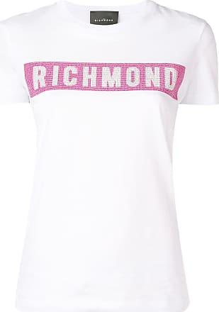 John Richmond Camiseta com logo em tachas - Branco