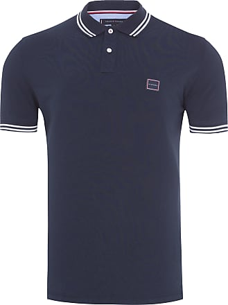 Tommy Hilfiger POLO MASCULINA BADGE TIPPED REG - PRETO