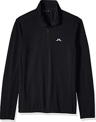 J.Lindeberg Mens Half Zip Midlayer Jacket, Black, X-Large