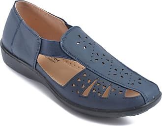 Chums Ladies Womens Shoe Wide Fit Slip On Elastic Strap Navy 3 UK