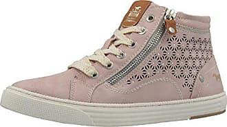 Mustang Shoes High Top Sneaker in Übergrößen Pink 1246-502-555 große  Damenschuhe, 6ec0362cb7