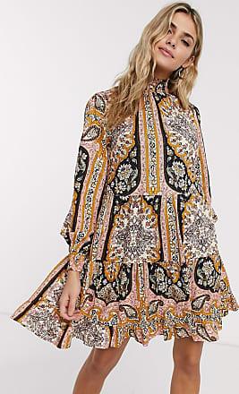 Miss Selfridge paisley print mini dress in multi
