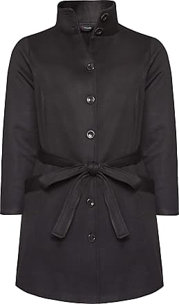 Yours Clothing Clothing Womens High Collar Jersey Coat Size 22-24 Black