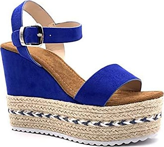 69471b12bd5b47 Angkorly Damen Schuhe Sandalen Espadrilles - Vintage Retro - Plateauschuhe  - Folk - Riemen -