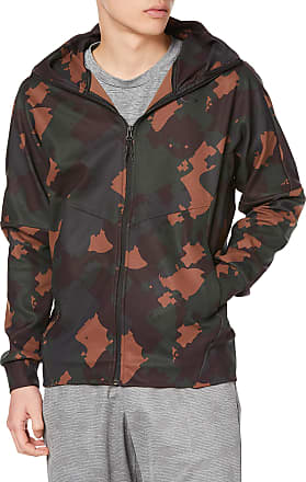 Oakley Mens Enhance Mobility Fleece Jacket Sweatshirt, Green Print, Large