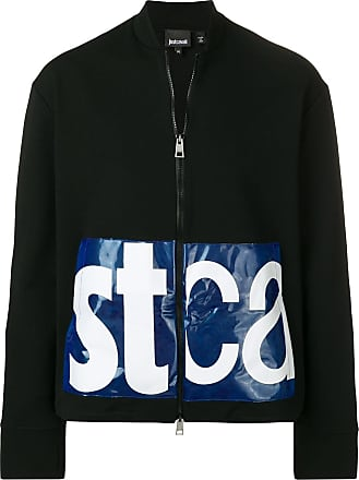 Just Cavalli logo bomber jacket - Black