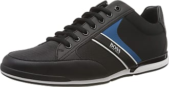 BOSS Mens Saturn_Lowp_NYRB Low-Top Sneakers, Black (Black 004), 6 UK