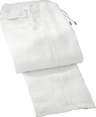 Vilebrequin Mens Solid Linen Pants-XL, White, X-Large