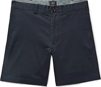 J.crew Slim-fit Cotton-blend Twill Shorts - Navy