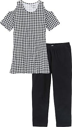 Bonprix Dam Pyjamas med caprileggings i svart kort ärm - bpc collection c182a78602b14