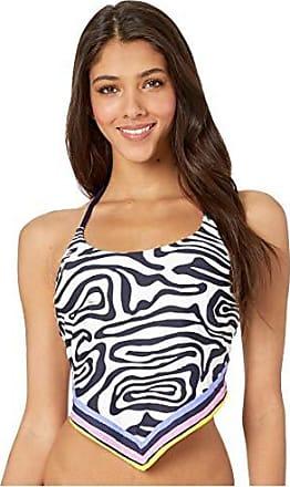 Trina Turk Womens Halter Handkerchief Tankini Swimsuit Top