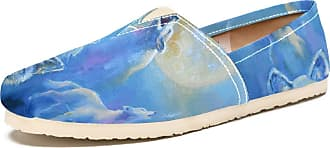 Tizorax Holwing Wolves Toward The Moon in Cold Winter Night Mens Slip on Loafers Shoes Casual Canvas Flat Boat Shoe