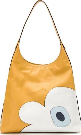 Sarah Chofakian Bolsa de couro com recortes - Amarelo