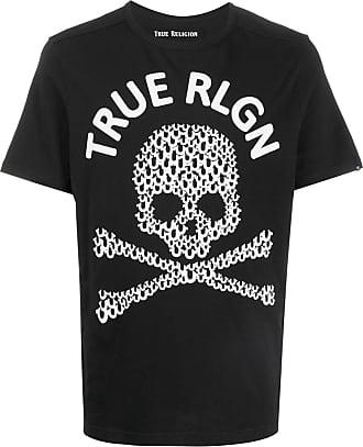 True Religion Camiseta com estampa de caveira - Preto