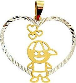 Prado Joias Pingente Em Ouro 18k Menino Coração