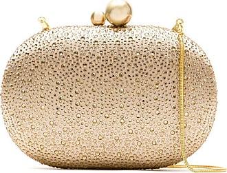 Isla Bolsa clutch com strass - Dourado