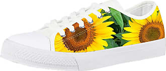 Coloranimal How Sale Sunflower Casual Shoes Comfortable Running Vulcanize Canvas Shoes for Teenager Girl Outdoor Low-top Leisure Jogging Flats EU48