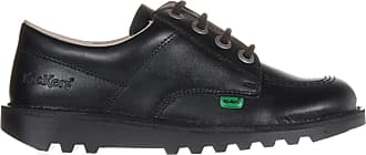 Kickers Kick Lo Classic Leather Youth Kids Girls School Shoe Black - UK 5