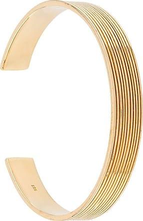 Isabel Lennse Pulseira canelada 10x2 - Dourado