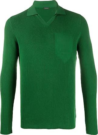 Zanone Camisa polo de tricô - Verde