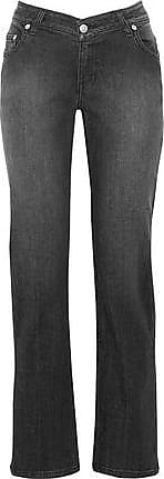 Opening Ceremony Opening Ceremony Woman Faded Mid-rise Slim-leg Jeans Black Size 25