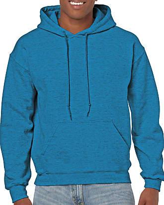 Gildan mensG18500Heavy Blend Fleece Hooded Sweatshirt G18500 Long Sleeve Shirt - Blue - XL
