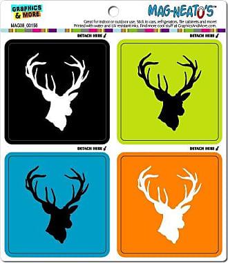 Graphics & More Deer Hunter Hunting Mag-Neatos Automotive Car Refrigerator Locker Vinyl Magnet Set