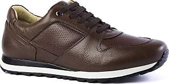 Doctor Shoes Antistaffa Sapatênis Masculino 4062 em Couro Floater Tabaco/Café Doctor Shoes-Café-43