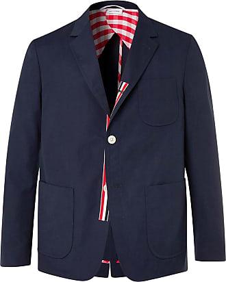 Thom Browne Navy Slim-fit Unstructured Canvas Suit Jacket - Navy